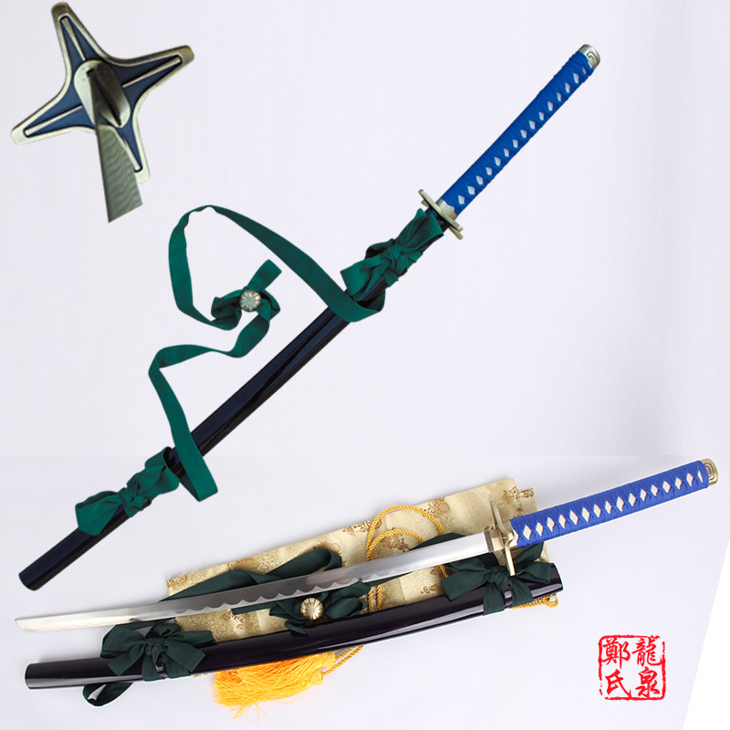 For Bleach Fantasy Anime Toshiro Hitsugaya Samurai Katana Real Sword Carbon Steel Cosplay Props Christmas Decorative