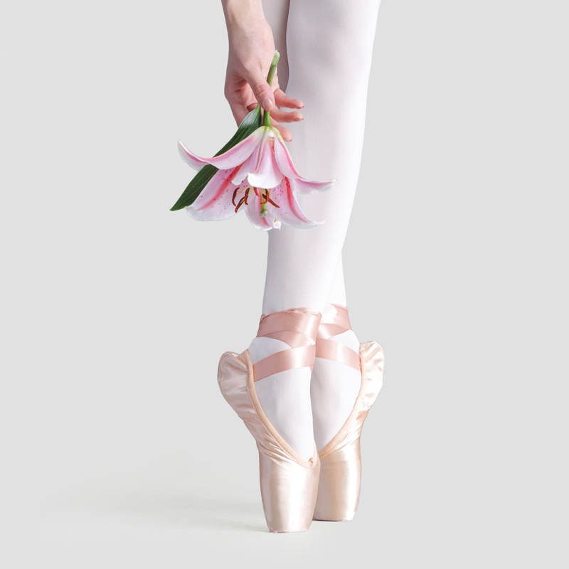 Show details for Female Professional Dance Ballet Shoes Children Hard Sole Hand Bandage Satin Show Acrobatics  Pointe Shoes With Ribbon