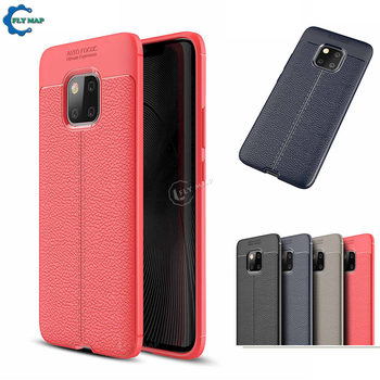 Soft Cover for Huawei Mate 20 Pro LYA L29 L09 Litchi Leather Grained Silicon Phone Case for Mate 20Pro LYA-L09 LYA-L29 Back Case