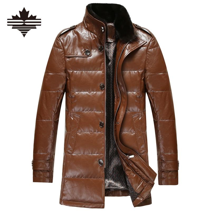 Popular Men's Leather Long Coats-Buy Cheap Men's Leather ...
