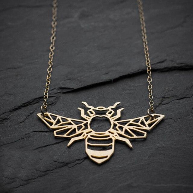 Geometric origami bee necklace honey bee pendant free ship 12pcs geometric origami bee necklace honey bee pendant free ship 12pcslot aloadofball Choice Image