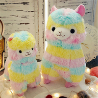 Fancytrader One Piece Anime Colorful Sheep Plush Toy Big Soft Stuffed Rainbow Sheep Doll 50cm 20inch