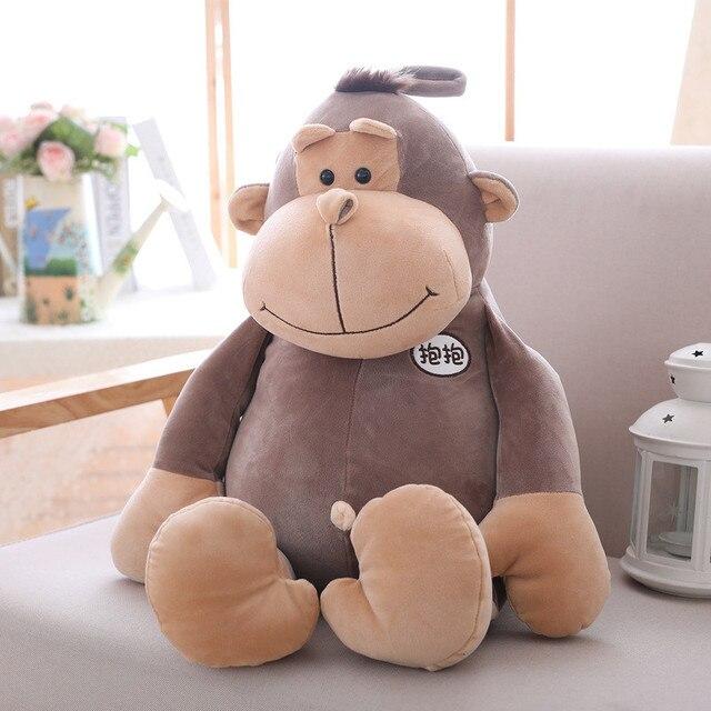 d041acabc0 1pc Lovely Gorilla Plush Toy Soft Stuffed Animal Orangutan Doll Cute Monkey  Cartoon Baby Toy Nap Pillow Creative Kids Gift -in Stuffed   Plush Animals  from ...