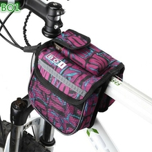 Bicycle Bags Bicycle Accessories Personalized Cycling Bike Pannier Frame Front Tube Double Bag 3 Colors