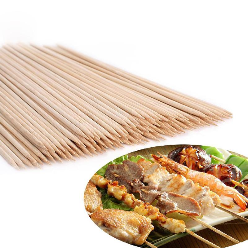 Bbq Bamboo Skewers Grill Shish Kabob Wood Sticks Barbecue Bbq Tools Churrasco Grill Accessories 1 Pack LPT6693