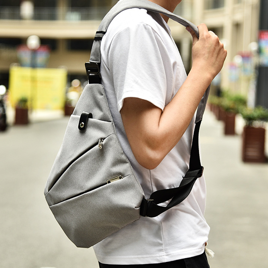 MR YLLS Waterproof Shoulder Bags Men Business Style Chest Bag Male Nylon Messenger Bags Man Fashion Crossbody Bag Men Bolsa 2019 in Crossbody Bags from Luggage Bags