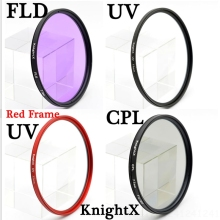 KnightX 49 52 55 58 62 67 72 77 mm FLD UV CPL lens Filter for nikon Canon Sony lens accessories camera d5200 d3300 d3100 canon
