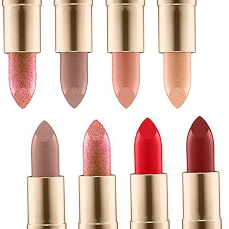 New Lipstick Cosmetic Waterproof Long Lasting Sexy Lip Matte Nude Lipstick Kit Free Shipping