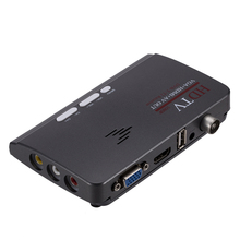1 adet HDMI DVB T/DVB T2 TV Tuner alıcı DVB T/T2 TV kutusu VGA AV CVBS 1080P dijital HD uydu alıcısı için LCD/CRT monitörler