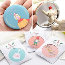 1pc Fashion Lady Portable Makeup Mirror Cartoon Pattern Compact Pocket Cosmetic Mini Cute Small Creative