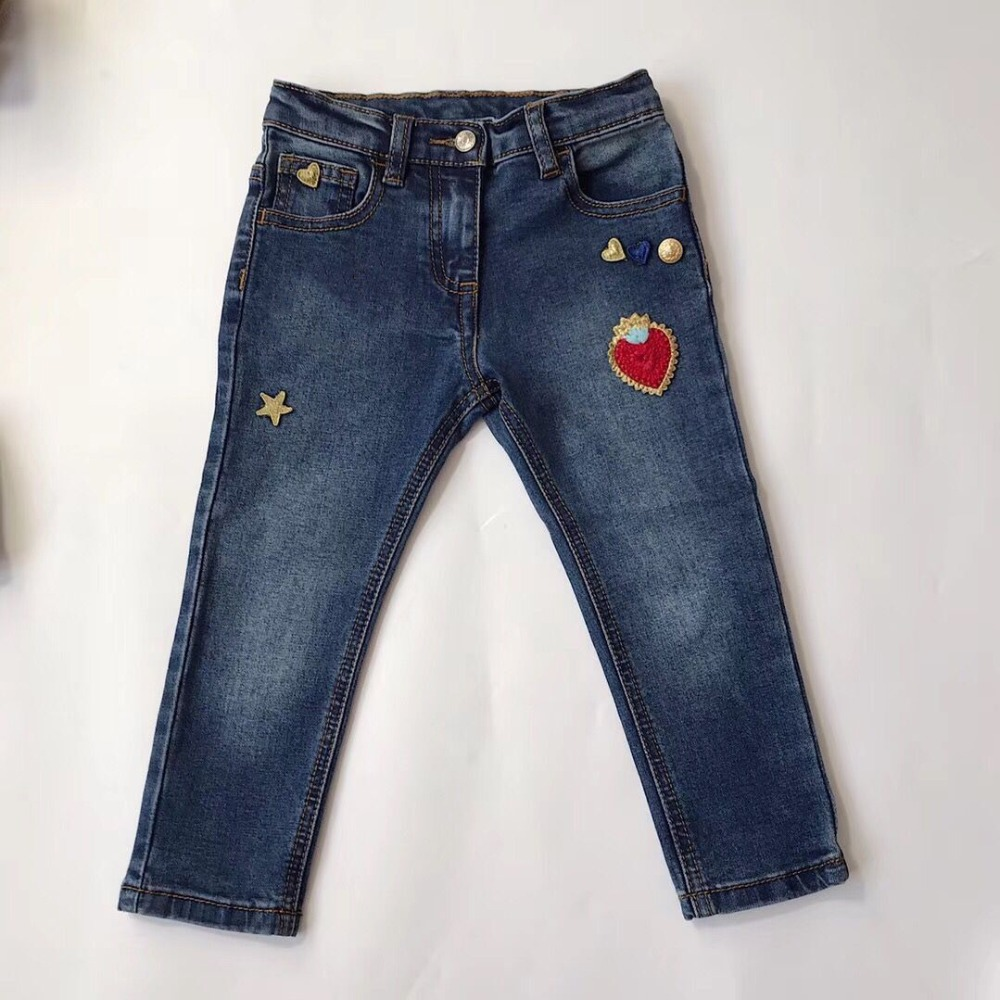 kids pants blue jeans 2018 casual Spring Solid Cotton Mid Waist Pants for Boy jeans girls Clothing Children Trousers s xl jeans casual loose denim pants 2018 new spring mid waist tassel wide leg jeans pants for women