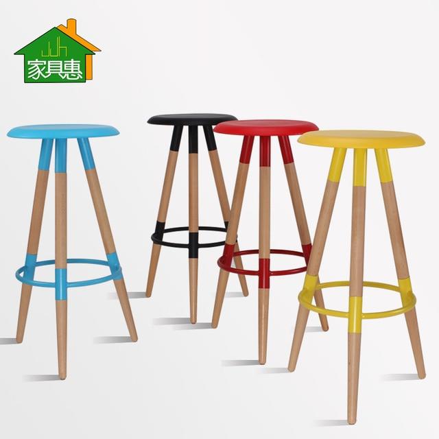 Wood Bar Stool Bar Chair Stylish Casual Bar Stool Bar Stool Tall Stool  Highchair Eames Chair