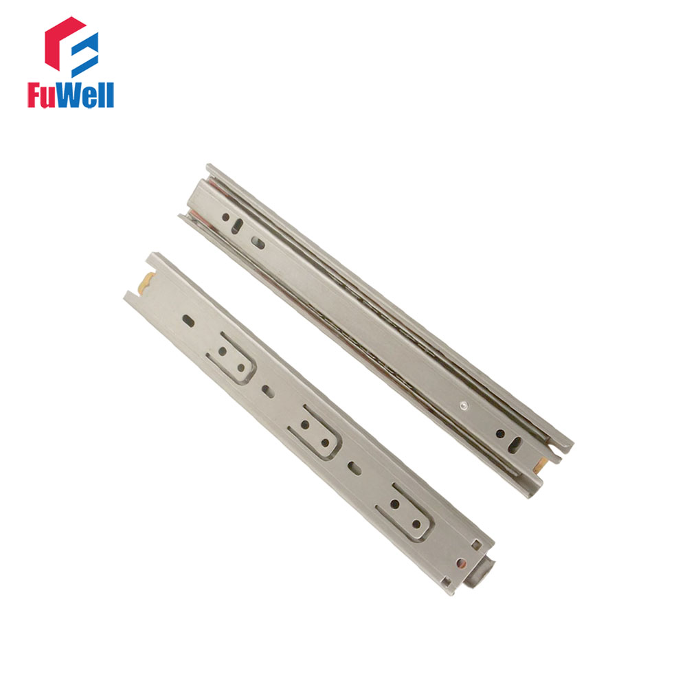 2pcs 20'' Length Drawer Slides Runner 35mm Width Stainless Steel Fold Telescopic Ball Bearing Sliding Rail for Furniture Cabinet wetkiss 2018 spring women shoes patent cow leather pumps woman zipper square toe thick high heels shoes female elegant footwear