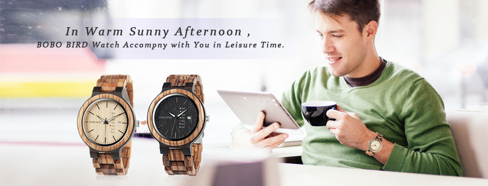 BOBO BIRD Men Women Wooden Sunglasses,Quartz Wristwatch Watches 13