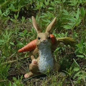 Image 5 - Codzienna kolekcja śliczna wielkanocna królik dekoracja biurka wróżka ogrodowa króliczek figurka zwierzątko home decor prezent na walentynki