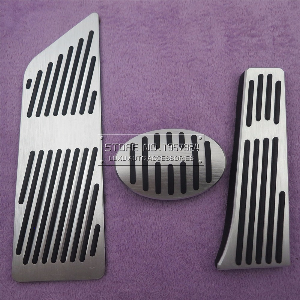 Car Accessories For BMW F48 X1 F45 2 Series 2015 2016 2017 AT Accelerator Brake Foot Rest Pedal Pads, Gas Fuel Refit Stickers