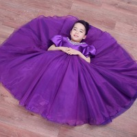 Yeni kız tül mor nedime çiçek kız düğün elbise kabarık balo ABD doğum günü akşam balo bez tutu parti elbise