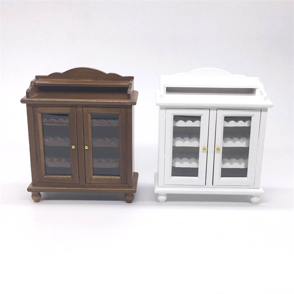 1/12 Dollhouse Miniature Accessories Mini Wooden Wine Cabinet   Simulation Furniture Model Toys Doll House Decoration