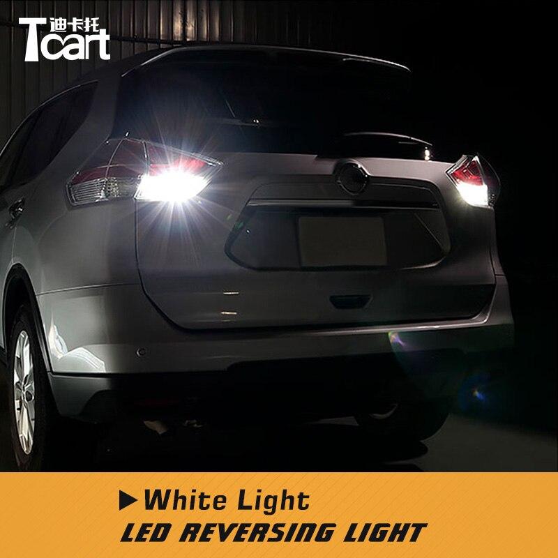 Tcart T15 LEVOU Reverter Luzes para Nissan X trail-T32 2014 2016 2017 2018 Canbus Led Back Up Luzes acessórios do carro Lâmpada traseira