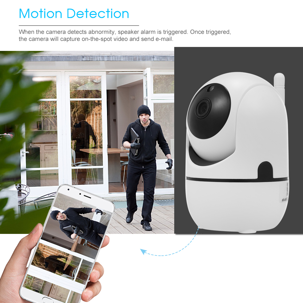 Image 5 - 1080P HD WiFi Camera Wireless IP Camera Baby Monitor with Motion Detection Tracking Voice Alarm 2 way Audio Night Vision-in Baby Monitors from Security & Protection