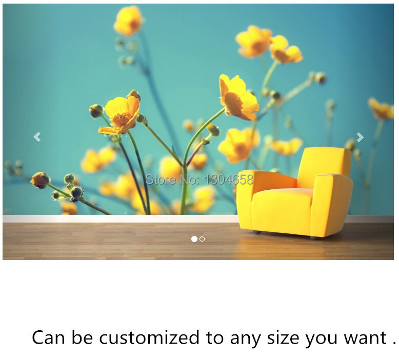 Free shipping custom- modern 3D mural Yellow Flowers Wall Mural sofa bedroom TV backdrop wallpaper. mb tgz380 3 axis gyro flybarless system for align trex t rex etc 450 550 600 700 rc helicopter fbl dfc