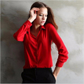 4 colors 2016 women's work wear Polo Shirts  Blusas Femininas  elegant ladies formal office Shirts  large size XXL