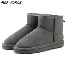 MBR FORCE High Quality Genuine Leather  Australia Classic 100% Wool snow boots Women Boots Warm winter shoes for women US 3-13 mbr force high quality women natural real fox fur snow boots genuine leather fashion women boots warm female winter shoes ship