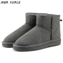 MBR FORCE High Quality Genuine Leather Australia Classic 100% Wool snow boots Women Boots Warm winter shoes for women US 3-13(China)