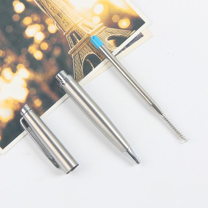 Купить с кэшбэком Shichen A009 New heavy metal ballpoint pen 0.7mm 1.0mm ink office school metal pen