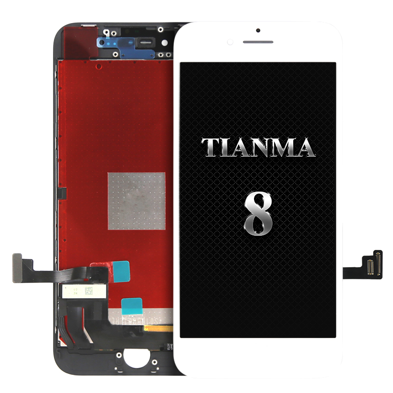 For Tianma quality for iphone 8 LCD for Mobile phone Touch Screen Assembly Replacement White black
