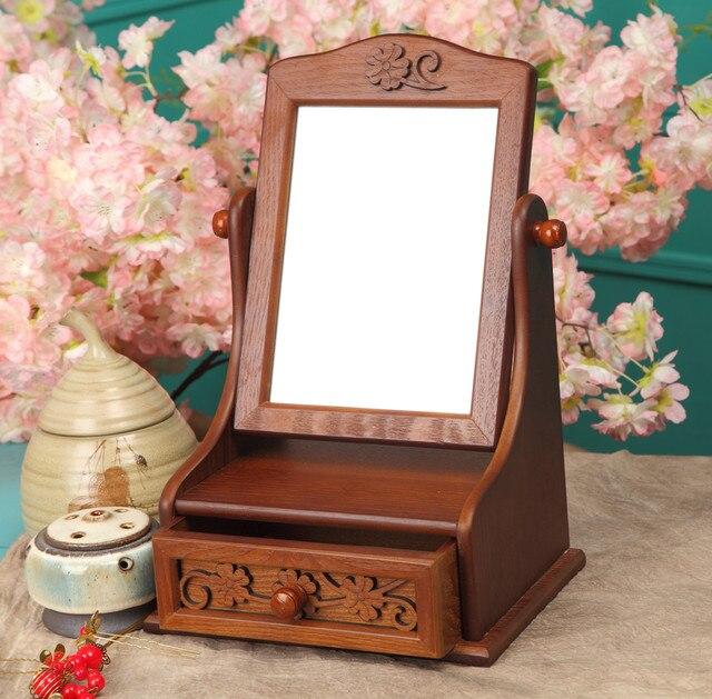 Mini aparadores tocador cajas de vestir con maquillaje for Tocador de madera maciza