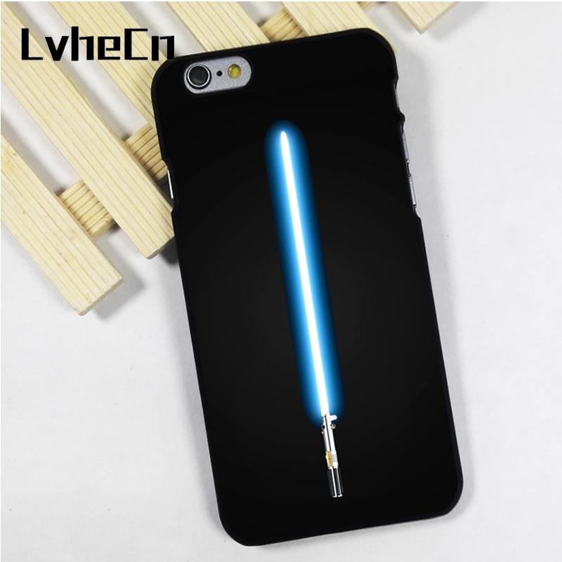 LvheCn phone case cover fit for iPhone 4 4s 5 5s 5c SE 6 6s 7 8 plus X ipod touch 4 5 6 Lightsaber Star Wars