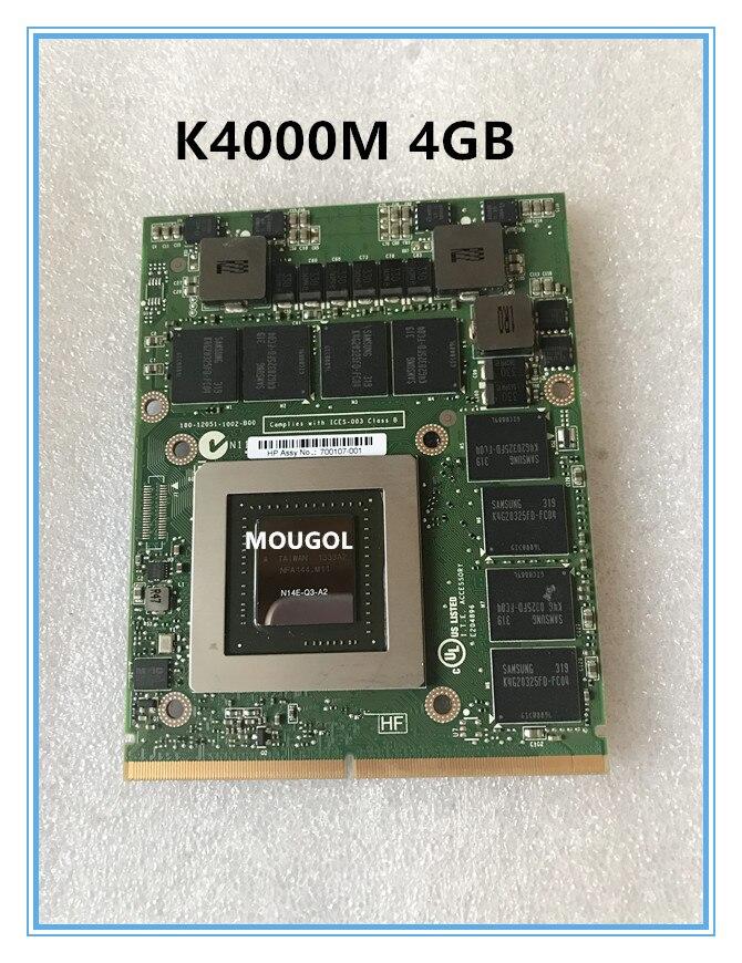 Gráfica de Vídeo 05dgtt para Laptop Quadro Placa N14e-q3-a2 4gb Dell M15x M17x M18x K4000m k 4000m Vga