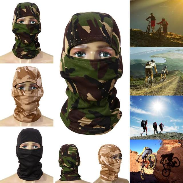 3D Camouflage Mask Camo Headgear Balaclava Face Mask for Hunting Fishing Cycling Face Protection Equipment