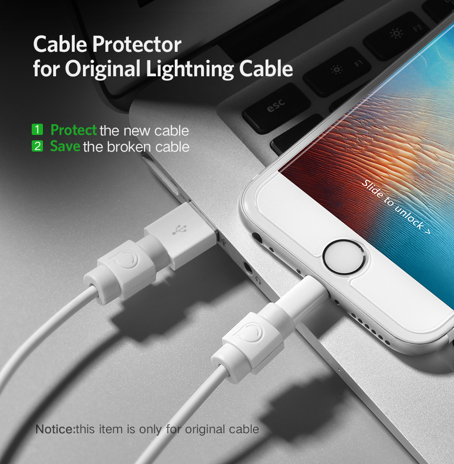 Ugreen Cable Protector For iPhone Charger Protection Cable USB Cord Saver Bite USB Cable Chompers For iPhone Cable Protector
