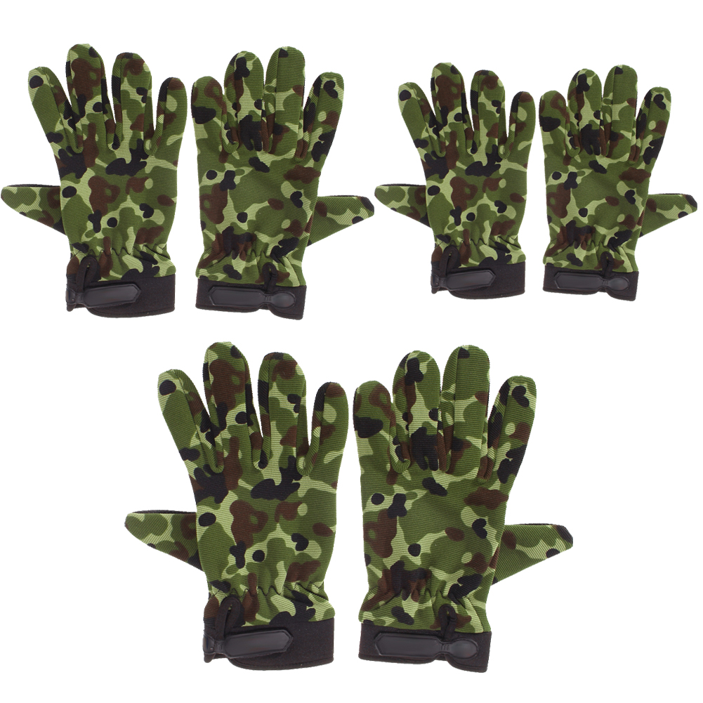 Outdoor Motorcycle Bike Riding Tactical Airsoft Hunting Full Finger Gloves M L XL Sports Gym Gloves Full Finger Breathable Glove qepae f7506 comfortable professional motorcycle bicycle full finger gloves red black pair xl