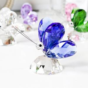 Image 3 - H&D 6pcs Crystal Butterfly Crafts Glass Animal Paperweight Natural Stones Figurines Ornaments Home Decor Souvenir Wedding Gifts