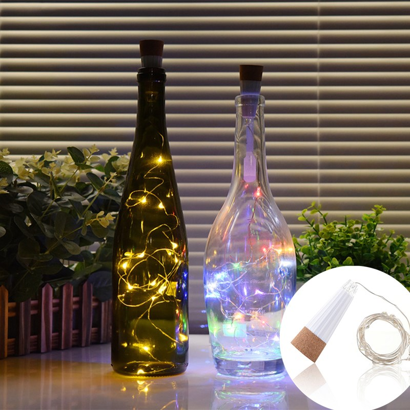 15  Led Wine Bottle Usb Rechargeable Cork Light String Romantic Magic Cork Shaped Light String Home Wedding Party Decoration