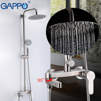 GAPPO 304 Stainless Steel Bathroom Sanitary Ware Suit bathtub Shower Faucets Cold and Hot Water Anti scalding bathroom Mixers