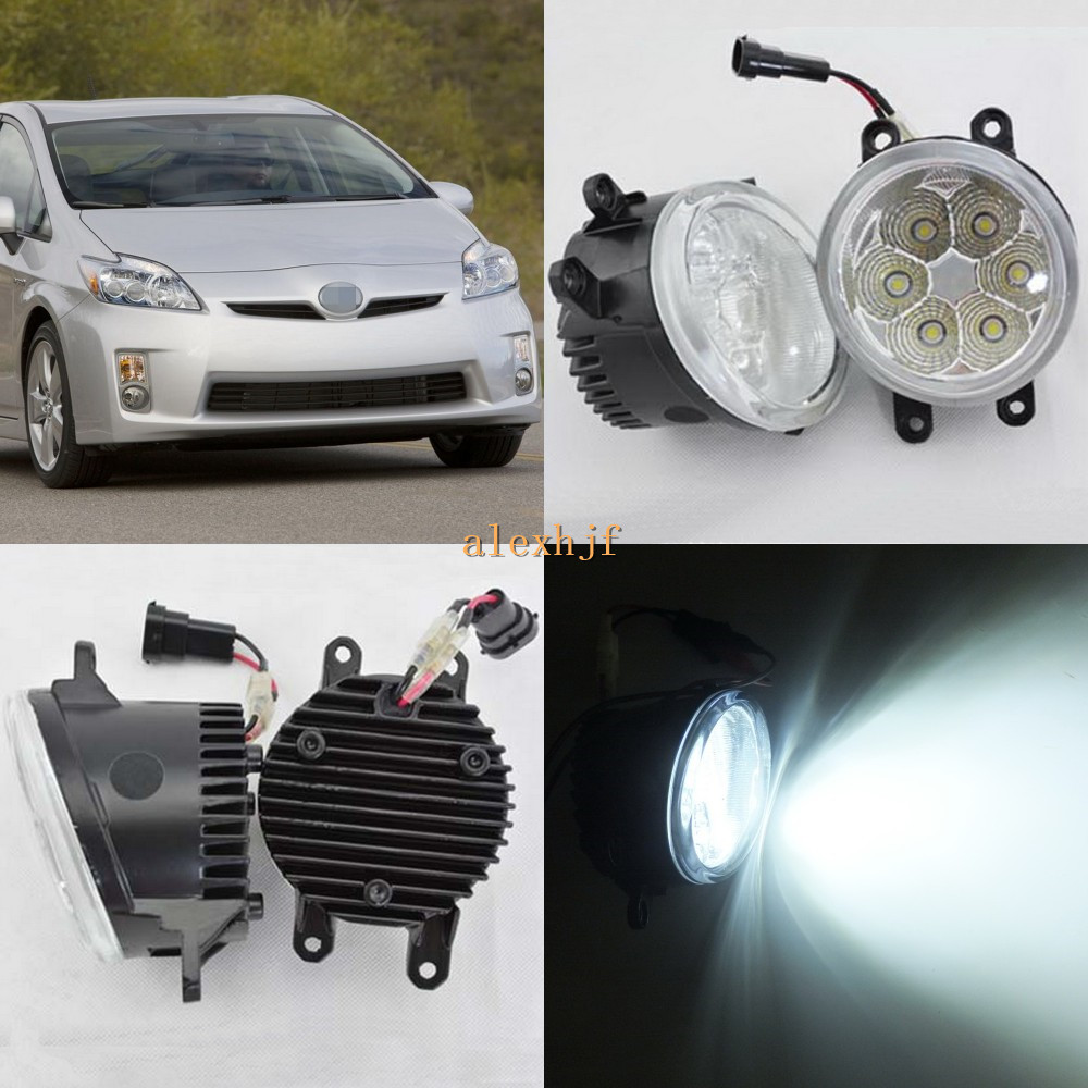 July King 18W 6500K 6LEDs LED Daytime Running Lights LED Fog Lamp case for Toyota Prius 2010~2013, over 1260LM/pc july king 18w 6500k 6leds led daytime running lights led fog lamp case for peugeot 107 2012 2015 over 1260lm pc