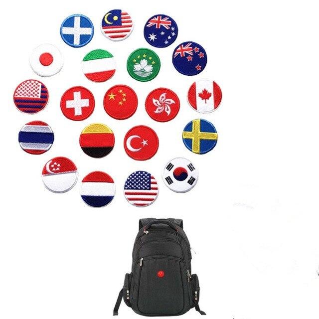 Malaysia Australia Japan Germany Italy Turkey Thailand France usa Korea Switzerland flag Embroidered Patches for Clothing badges(China)