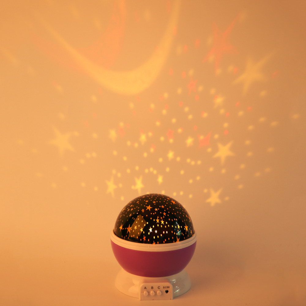 1Pcs NEW Amazing LED Rotation Night Sky Projector Starry Night Light Star Flashing Lamp Romantic Fairy Tale 5V Great Decoration