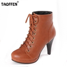 Women Ankle Boots High Heel Winter Fashion Botas Sexy Warm Fur Lady Boot Heels Footwear Shoes P1962 EUR Size 34-39