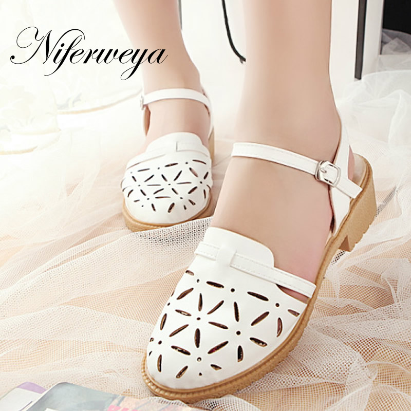 New 2017 Fashion Leisure senior PU leather women shoes summer style big size 34-43 high heels Cut-Outs sandals MLE-3-21 2018 summer new genuine leather women slippers sexy cut outs high heels shoes fashion slides natural leather sandals for women