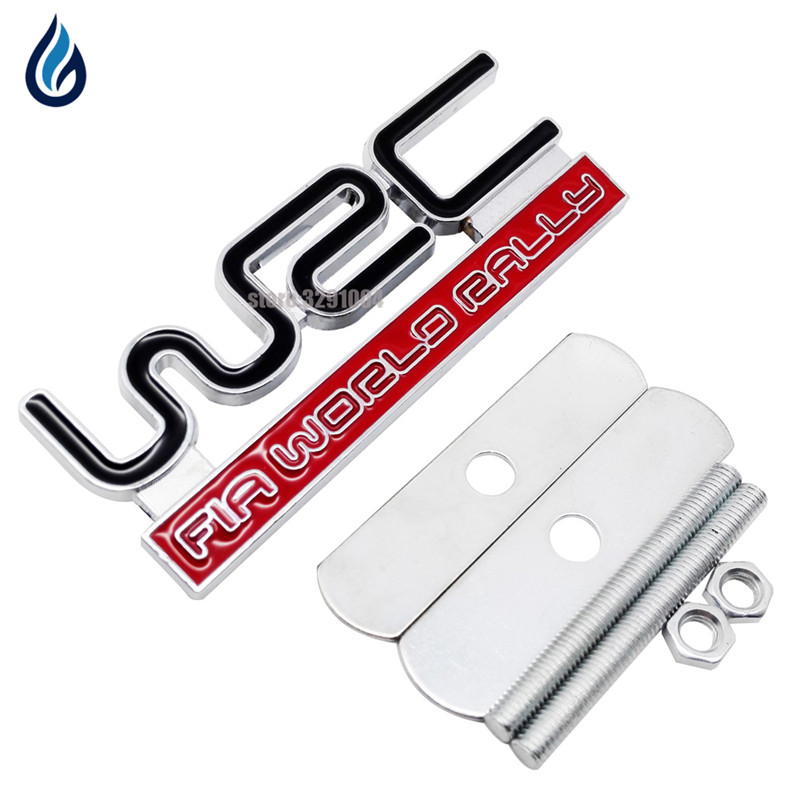 3D WRC Car Front Grille Emblem Badge Stickers Accessories for Hyundai Citroen Volkswagen Toyota Audi BMW Mercedes Benz Ford Fiat 3d ss car front grille emblem badge stickers accessories styling for jaguar honda chevrolet camaro cruze malibu sail captiva kia
