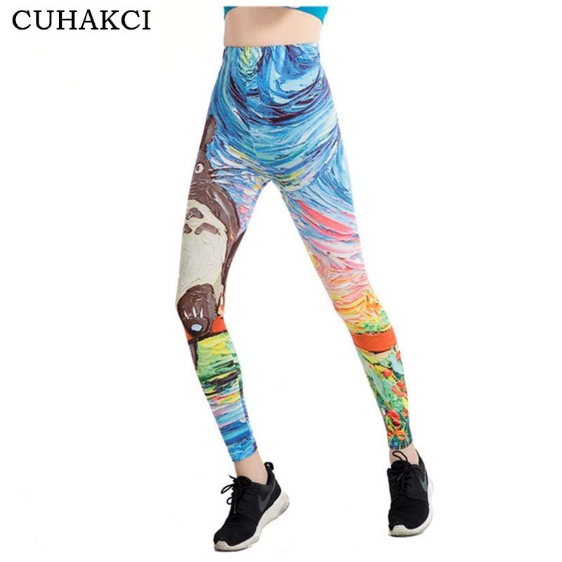 CUHAKCI Graffiti 3D Print Leggings Women 21 Designs Painting Legging Fitness Floral Stripe Jeggings Scale High Stretch Leggins