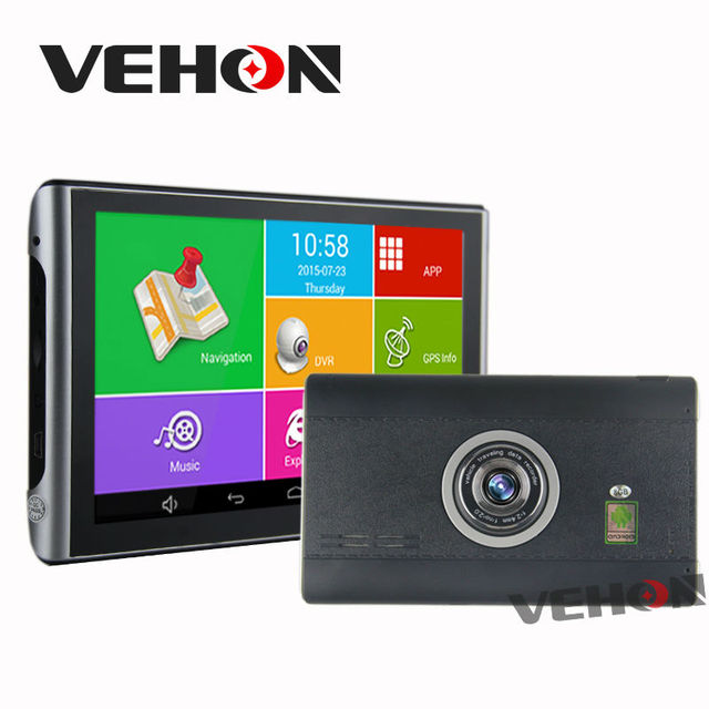 GPS Navigation 7 inch Android 8Gb 512Mb 1080P Car Dvr Free Map Quad-core Truck vehicle Gps