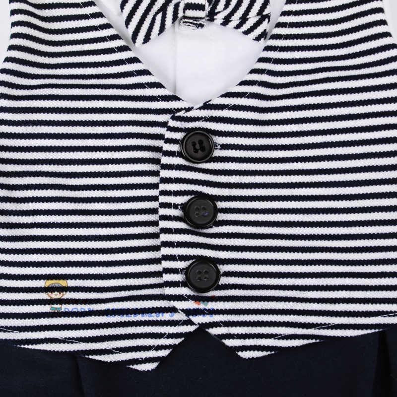 Для маленьких мальчиков Детский комбинезон весна-осень Одежда для малышей Комплект Детская одежда хлопковые детские халаты джентльмен смокинги для новорожденных, одежда для мальчиков