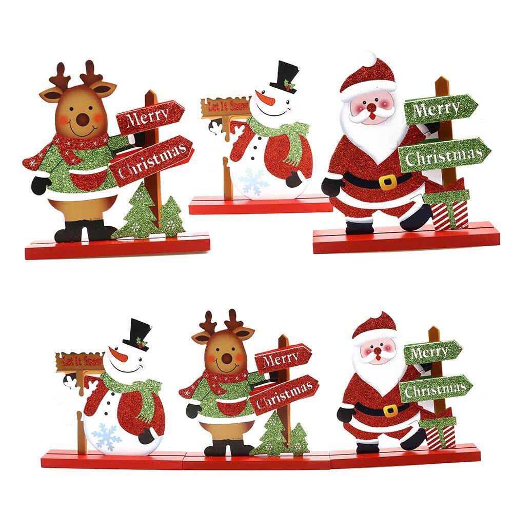 Snowman Santa Claus Christmas Xmas Decoration Living Room Table Ornament  Craft Party Supplies Kids Favors Home