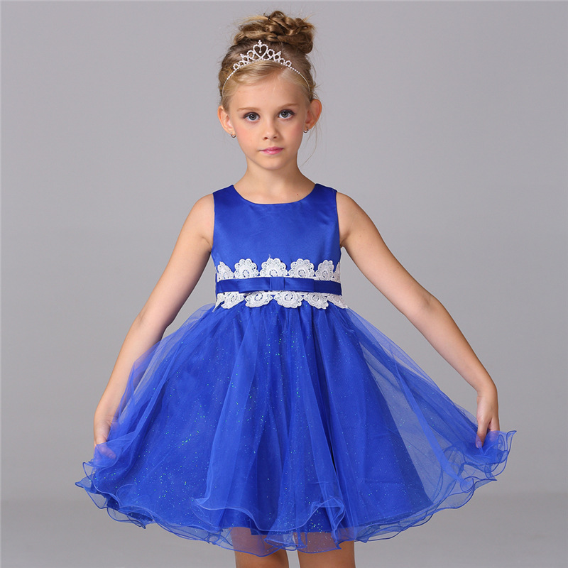 2017 Summer New Toddler Evening Dresses Kids Girl Wedding Princess Lace Flower Dress Baby Holiday Show Dress girls dress 2017 new summer flower kids party dresses for wedding children s princess girl evening prom toddler beading clothes